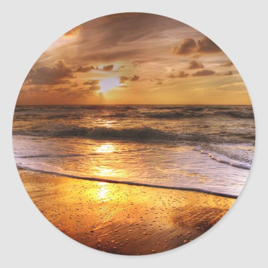 Sonnenuntergang Runder Aufkleber