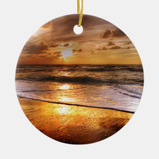 Sonnenuntergang Rundes Keramik Ornament