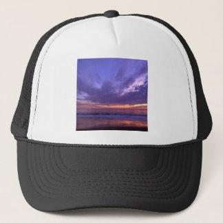 Sonnenuntergang Seabright Santa Cruz Kalifornien Truckerkappe
