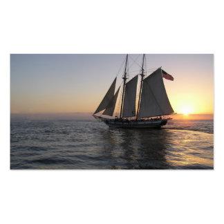 Sonnenuntergang-Segel Visitenkarten