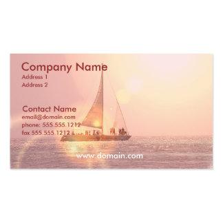 Sonnenuntergang-Segelboot-Visitenkarte
