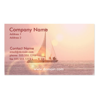 Sonnenuntergang-Segelboot-Visitenkarte Visitenkarten