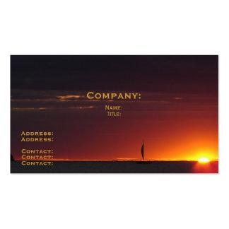 Sonnenuntergang-Segelboot Visitenkarten