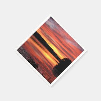 Sonnenuntergang-Servietten Papierservietten