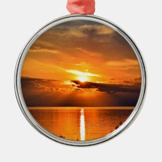 Sonnenuntergang Silbernes Ornament