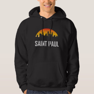 Sonnenuntergang-Skyline Saint Paul Minnesota Hoodie