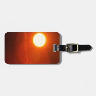 Sonnenuntergang-Sonnenschein-Power-Energie-Quelle Kofferanhänger