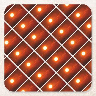 Sonnenuntergang-Sonnenschein-Power-Energie-Quelle Rechteckiger Pappuntersetzer