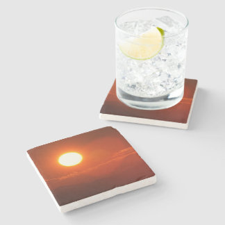 Sonnenuntergang-Sonnenschein-Power-Energie-Quelle Steinuntersetzer