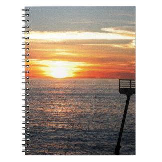 Sonnenuntergang Spiral Notizblock