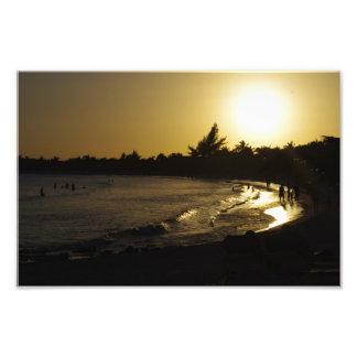 Sonnenuntergang-Strand-Foto-Druck 8x10 CANCUN Fotodruck