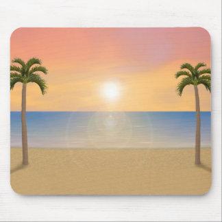 Sonnenuntergang-Strand-Szene: Kundenspezifisches Mauspads