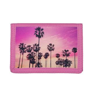 Sonnenuntergang-Strand-Szene, lila tropischer