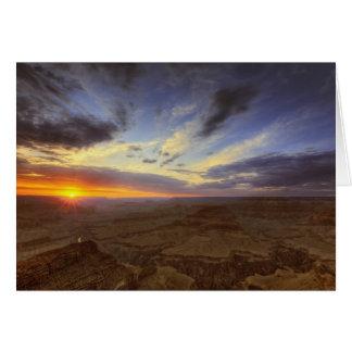 Sonnenuntergang, Südkante des Grand Canyon, Karte