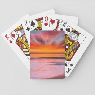 Sonnenuntergang Tamarack Strand   Karlsbad, CA Spielkarten