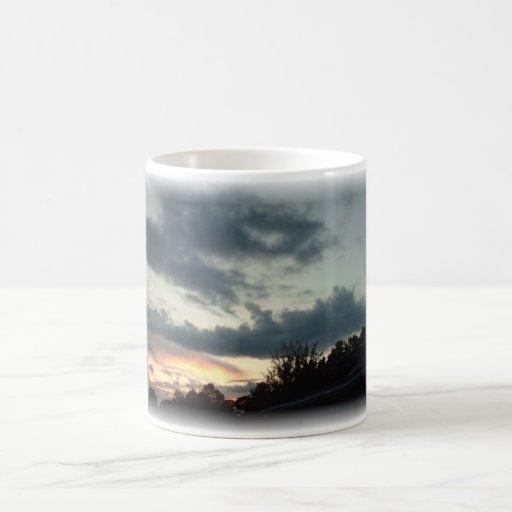 Sonnenuntergang Teetassen