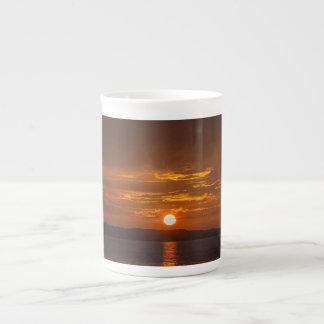 Sonnenuntergang-Tasse Porzellan-Tassen