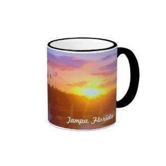 Sonnenuntergang-Tasse Tampas Florida Ringer Tasse