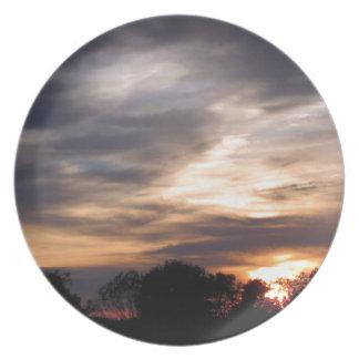 Sonnenuntergang Teller