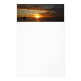 Sonnenuntergang tropischen Meerblick am Meerii Briefpapier