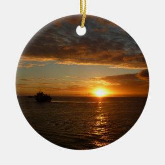 Sonnenuntergang tropischen Meerblick am Meerii Keramik Ornament