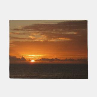 Sonnenuntergang tropischen orange Meerblick am Türmatte