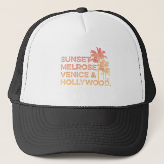 Sonnenuntergang u. Melrose u. Venedig und Truckerkappe