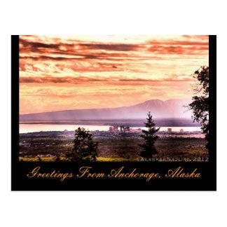 Sonnenuntergang über Anchorage, Postkarte
