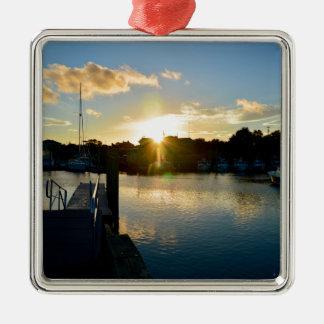 Sonnenuntergang über Cape Cod Silbernes Ornament