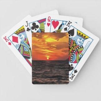 Sonnenuntergang über dem Mittelmeer Bicycle Spielkarten