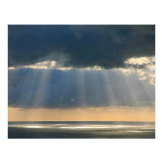Sonnenuntergang über dem Ozean 21,6 X 27,9 Cm Flyer