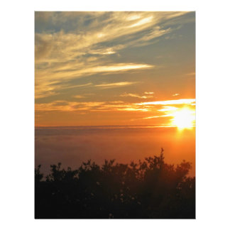 Sonnenuntergang über dem Ozean Vollfarbige Flyer