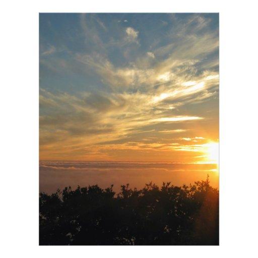 Sonnenuntergang über dem Ozean Custom Flyer
