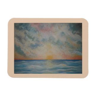 Sonnenuntergang über dem Ozean-Küchenmagneten Magnet