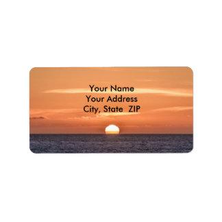 Sonnenuntergang über dem Pazifischen Ozean 2 Adressaufkleber