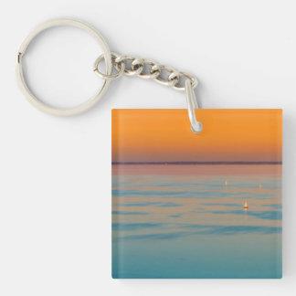 Sonnenuntergang über dem Plattensee, Ungarn Schlüsselanhänger