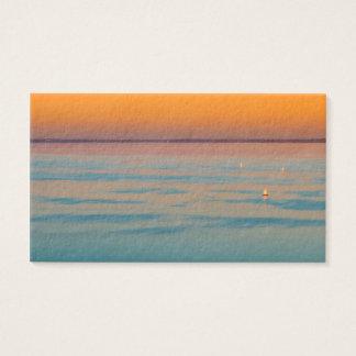 Sonnenuntergang über dem Plattensee, Ungarn Visitenkarte