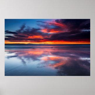 Sonnenuntergang über den Kanal-Inseln, CA Poster