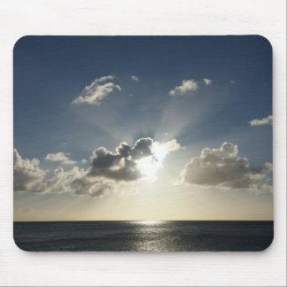 Sonnenuntergang über der Ozean-Mausunterlage Mauspads