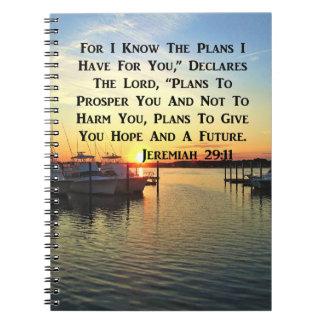 SONNENUNTERGANG ÜBER DER SEE-JEREMIAS-29:11 NOTIZBLOCK