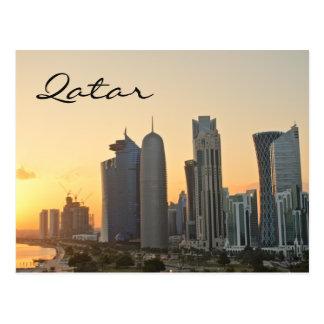 Sonnenuntergang über Doha, Qatar Textpostkarte Postkarten