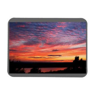 Sonnenuntergang über Eagle Seeacadia-Nationalpark Magnet