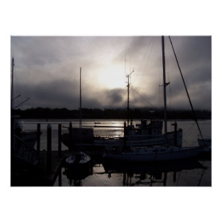 Sonnenuntergang über Gurren-Bucht Poster