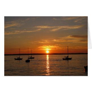 Sonnenuntergang über Lummi Insel Karte