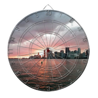 Sonnenuntergang über Miami Dartscheibe