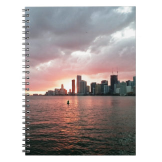 Sonnenuntergang über Miami Notizblock
