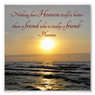 Sonnenuntergang über Ozean-Freundschafts-Zitat-Qua