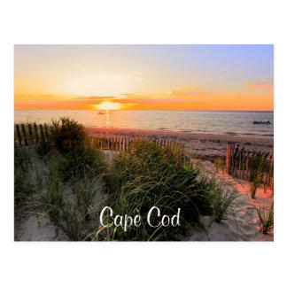 Sonnenuntergang über Postkarte Strand-Cape Cods MA
