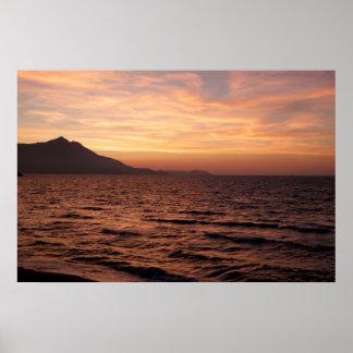 Sonnenuntergang über Procida Plakat