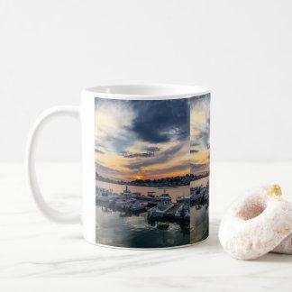 Sonnenuntergang über Rumpf Massachusetts Kaffeetasse